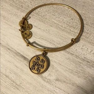 Gold Alex and Ani Bracelet